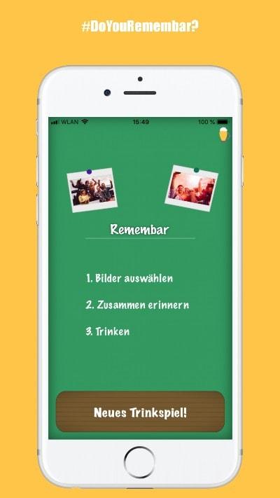 Remembar-Trinkspiel-App-Vortrinken